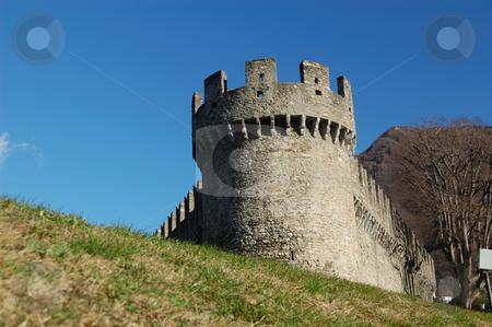 Montebello castle stock photo, UNESCO World Heritage: Montebelo castle in Bellinzona  (Switzerland) by ALESSANDRO TERMIGNONE