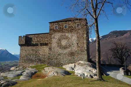 Sasso Corbaro castle stock photo, UNESCO World Heritage: Sasso Corbaro castle in Bellinzona  (Switzerland) by ALESSANDRO TERMIGNONE