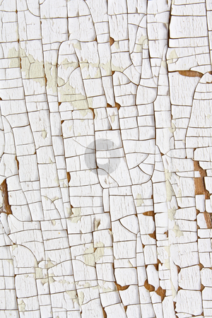 Cracked and Peeling White Paint 2 stock photo, Close up of cracked and peeling white paint by Mark Carrel