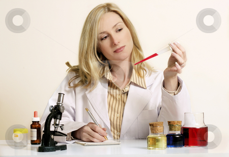Researcher stock photo, Research, experimentation, anaylse, etc... by Leah-Anne Thompson