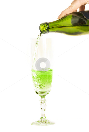 Celebrating St Patrick's Day stock photo, Cheers!