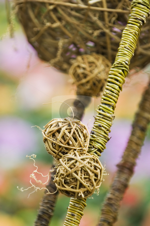 Decorative with stalks stock photo, The ornamental artwork composited with dried stalks by Tito Wong