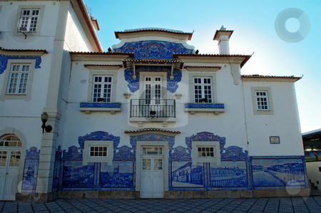 European antique house stock photo, An antique house (construction) in Aveiro downtown, Portugal by Tito Wong