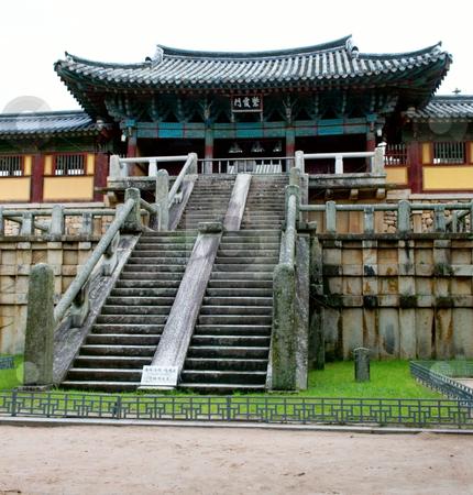 Bulguksa temple stock photo, Bulguksa temple in Gyeongju city, South Korea by Tito Wong