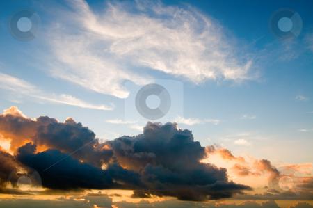 Sunset sky stock photo, The daybreak sky background by Tito Wong