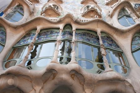 Gaudi building  stock photo,  by Lior Peretz