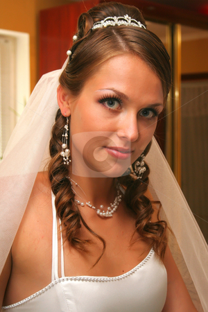 Bride in wedding dress stock photo, Bride in wedding dress by Artem Zamula