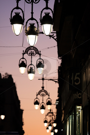 Street lamp stock photo, In Barcelona is a street lamp series by ARPAD RADOCZY