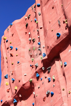 Climbing wall stock photo, The practice of artificial climbing walls is fun by ARPAD RADOCZY