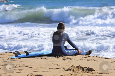 Surf stock photo, After the surfing rest is finding gratifying by ARPAD RADOCZY