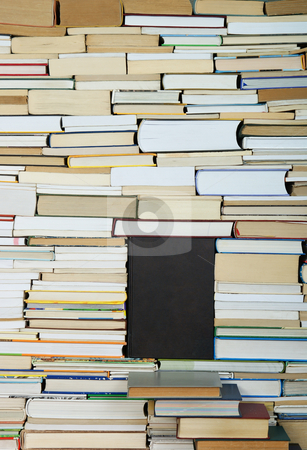 Book stock photo, Closed book on background of arranged books by Jolanta Dabrowska