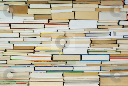 Book stock photo, Heap of old and new  books on background by Jolanta Dabrowska