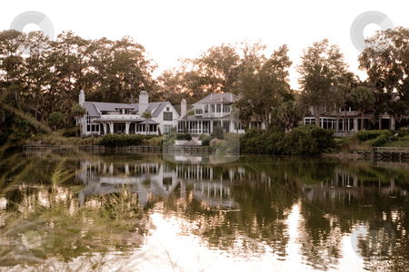 House on a Lake stock photo, House on a lake by Johnny Griffin