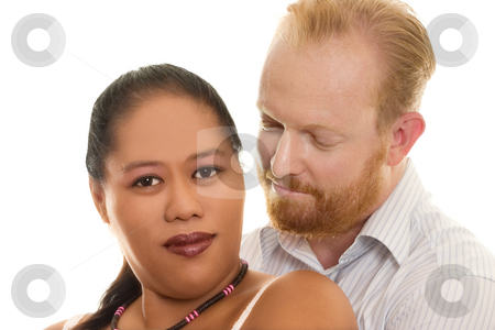 Loving Couple stock photo, Loving multicultural diversity couple embrace by Leah-Anne Thompson