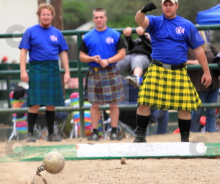 Seaside Highland Games stock photo, EDITORIAL ONLY  VENTURA, CA, USA - October 11, 2009 - Athletes performing at the Ventura Seaside Highland Games October 11, 2009 in Ventura, CA Where: Ventura, CA, USA by Henrik Lehnerer