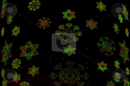 Christmas snowflakes stock photo, Dark Christmas snowflakes texture. by Anibal Trejo