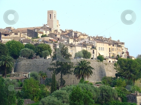 Saint Paul de Vence, in the french riviera. Place where many artist can be found. stock photo,  by Giancarlo Liguori