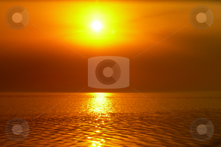 Reflection the Sun in the sea stock photo, Reflection the Sun in the sea on a sunset by Vadim Tsyba