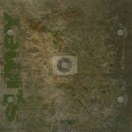 Grunge Background with Slimey Text stock photo, Grunge brown dirty looking background with brown stains and slimey text and copy space by Keith Wilson