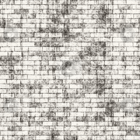 Grungy Brick Wall stock photo, A grungy brick wall texture that tiles seamlessly as a pattern. by Todd Arena