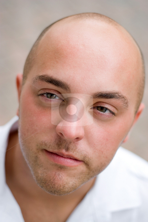 Young Man stock photo, A young man with a sincere look on his face. by Todd Arena