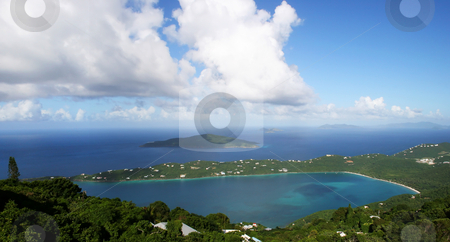 Trunk Bay in the Caribbean stock photo, Trunk Bay on the Island of St Thomas in the Caribbean by Steven Heap