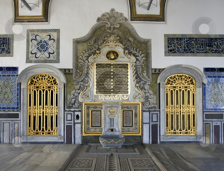 Topkapi Palace Interior stock photo, Close up of golden doors in the interior of the Topkapi Palace in Istanbul by Steven Heap