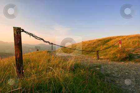 ... an invalicable fence? stock photo, ... on a prefect Fall's evening by emiliano beltrani
