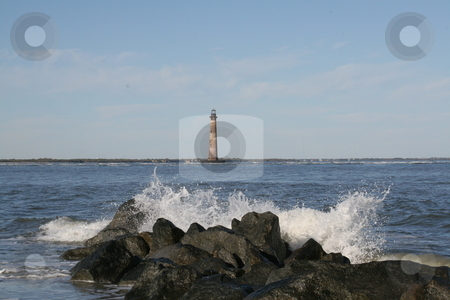 A light of the sea stock photo, This is the old lighthouse on Morris Island off Folly Beach, SC outside of Charleston by Joy Marcus