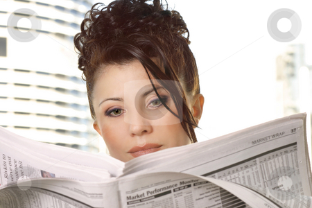 Financial Review stock photo, Businesswoman reviewing financial markets, stocks, money, business by Leah-Anne Thompson