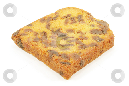 Fruit Cake stock photo, Fruit Cake with dried fruits and isolated on a white background by Kheng Ho Toh