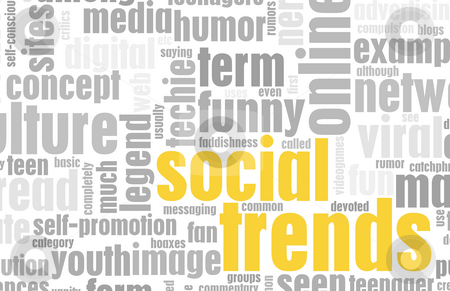 Social Trends stock photo, Social Trends Concept As a Abstract Background by Kheng Ho Toh