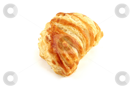Raspberry and Strawberry Puff Pastry Danish stock photo, Raspberry and Strawberry Puff Pastry Danish Isolated on a White Background by Kheng Ho Toh