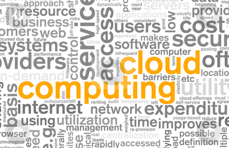 Cloud Computing stock photo, Cloud Computing Technology Concept as a Abstract by Kheng Ho Toh