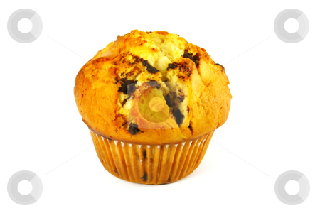 Muffin Baked stock photo, Muffin Baked and Isolated on a White Background by Kheng Ho Toh