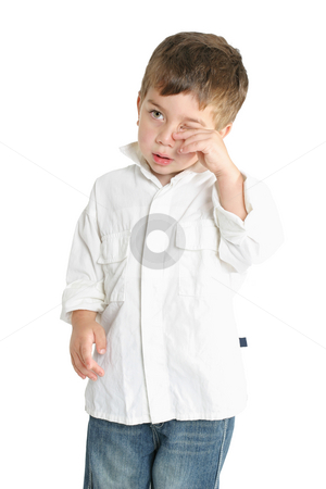 Tired Child stock photo, Tired child rubbing eyes by Leah-Anne Thompson