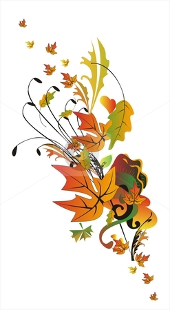 Abstract Autumn stock photo, Abstract autumn border in orange and gold tones by Tudor Antonel adrian