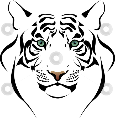 Tiger head stock vector clipart,  by Vitaliya Piliuhina