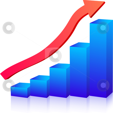 Business growth graph stock vector clipart, Business growth graph up arrow by Vadim Pats