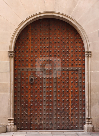 Old gate stock photo, Old gate from Barcelona by ARPAD RADOCZY