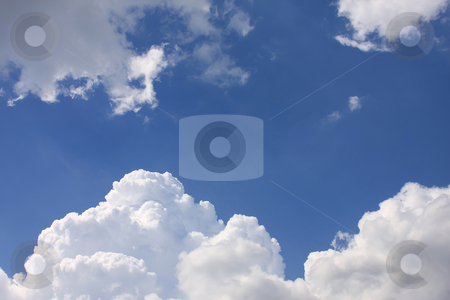 Clouds stock photo, Interesting form of a beautiful lamb clouds by ARPAD RADOCZY