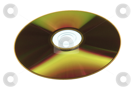 DVD stock photo, Cd or dvd, recordable side isolated on white by Mile Atanasov