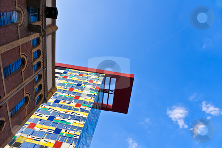 Modern Architecture in Germany stock photo, Modern Architecture in with copyspace by Interlight