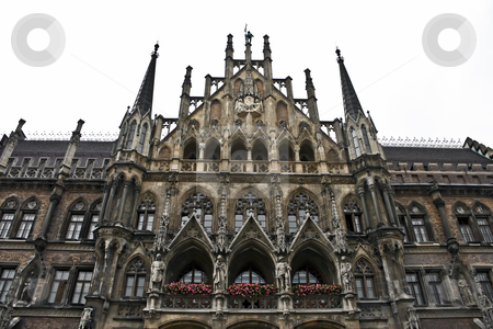 Town-hall in Munich, Germany stock photo, Detail of the town hall in Munich, Bavaria. by Interlight