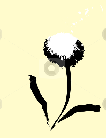Dandelion  stock vector clipart, Ink brush impression of a common dandelion. by Jeffrey Thompson