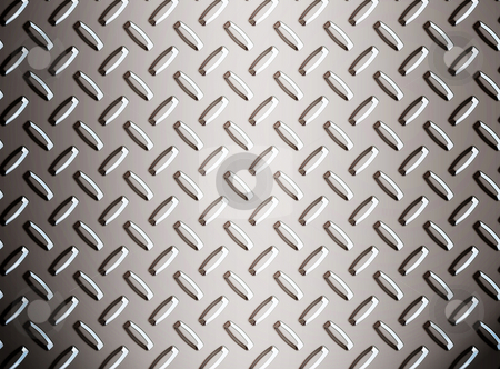 Alloy diamond plate metal stock photo, A large seamless sheet of alluminium or nickel diamond or tread plate by Phil Morley