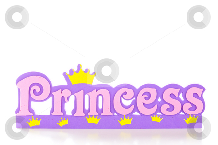 Princess Frame stock photo, Word spells princess in pink and purple letters. by Tammy Abrego