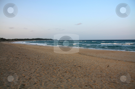 Postcard Beach at dusk stock photo, Postcard Beach at dusk by Chris Alleaume