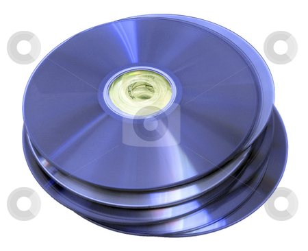 Optical discs stock photo, Optical discs - cd, dvd, blu-ray, hddvd by Mile Atanasov