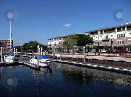 Boats anchored at Palafox Pier  stock photo, Boats anchored at Palafox Pier - Pensacola, Florida by Anthony Dezenzio
